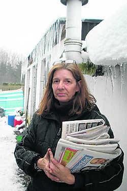 Adelaïda bij haar woning in Booischot: 'Als ik vrijkom, weet ik je te vinden en sla ik alles kort en klein, snauwde hij me toe toen hij werd opgepakt.' Ivo Meulemans