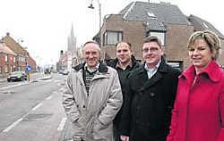 'Het stadsbestuur luistert naar ons', zeggen Nancy Van Hove (rechts) en de rest van het Unizo-bestuur. Michel Vanneuville