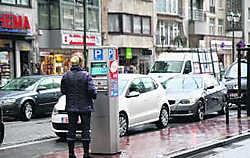 Een echte schande, oordelen de inwoners van Knokke over het nieuwe parkeerplan. Norbert Minne
