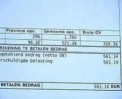 Voor een huis met een kadastraal inkomen van 899 euro betalen Hammenaren een gemeentelijke onroerende voorheffing van 571,38 euro.jvdv