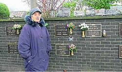 Hilda Goderis stelde zich burgerlijke partij tegen de kerkhofdieven. Mark Maes