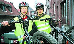 Kevin Roelants en Gijs Meulemeester namen deel aan de Bikespotting-wedstrijd van de provincie. Koen Merens