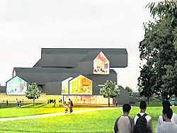 Ontwerp voor het Vitra Haus door Herzog & De Meuron. rr