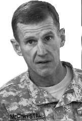 Stanley McChrystal: voor onderhandelingen.epa
