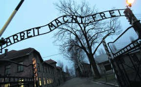 Het concentratiekamp Auschwitz. afp