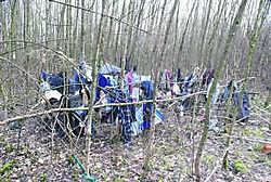 In dit kamp 'woont' de 57-jarige man.bkh