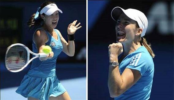Justine Henin donderdagochtend vroeg tegen Jie Zheng