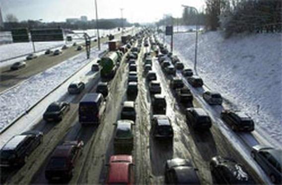 Sneeuw hindert verkeer