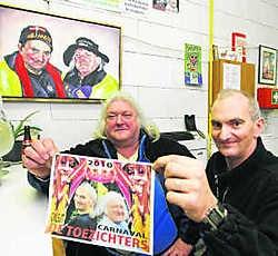 Etienne Grillaert (links) en Luc Vermeiren zijn al vijftien jaar de opzichters van de werkhallen. Hendrik De Rycke