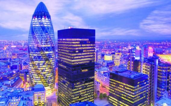 Londen, financieel district.corbis