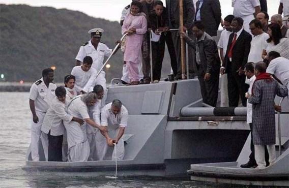 As Gandhi verstrooid voor kust Zuid-Afrika