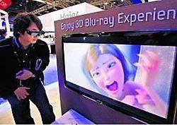 Fabrikant Panasonics 3D-tv's liggen deze week als eerste in de Amerikaanse winkels, Sony en Samsung volgen op de voet.