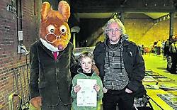 Op de creatieve kinderbeurs vorige zondag mocht Jens plaatsnemen tussen Geronimo Stilton en kinderboekenauteur Marc De Bel. if