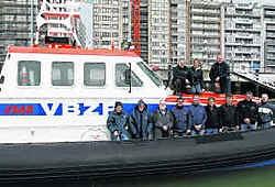 De nieuwe reddingsboot heeft nog geen naam. Daarvoor is het nog wachten op een sponsor. nmi