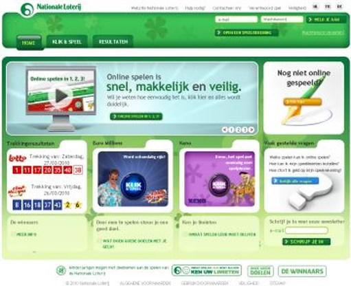 De Nationale Loterij staat online