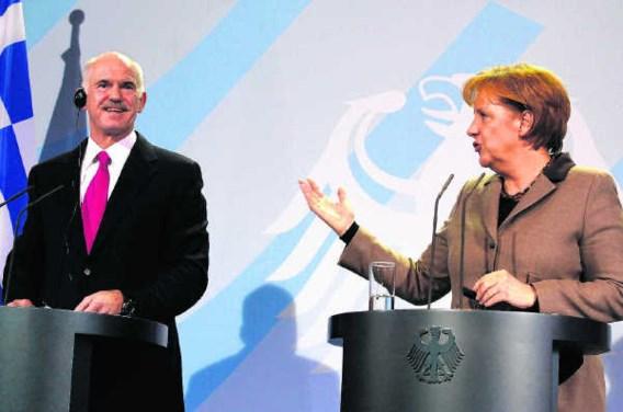 Grote financiële transfers naar Zuid-Europa kan bondskanselier Merkel er in eigen land nooit doorduwen. Jochen Eckel/Bloomberg
