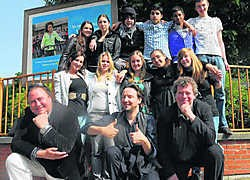 De leerlingen van Victor Horta konden kennismaken met leerlingen van het Sintermeertencollege uit Heerenveen.Herman Ricour