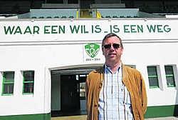 Bart Pepermans wil de tribunes van Racing Mechelen nog eens volledig gevuld zien evr