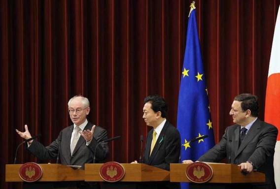 Van Rompuy besluit persconferentie in Japan met haiku
