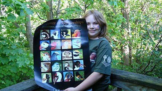 Meisje (11) tekent vogels om Golf van Mexico te redden