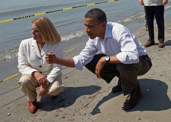 Obama bezoekt verontreinigde kust Louisiana
