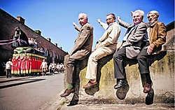 De vier Heemskinderen uit 1952: Jo, Raf, Piet en Jan Bombay. Jimmy Kets