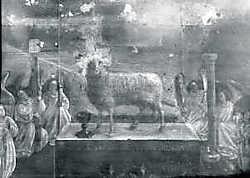 Röntgenopname van het 'Lam Gods'.kik