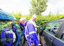 Heel wat auto's werden aan een grondige controle onderworpen.Eddy Van Ranst