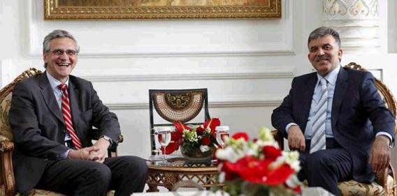 Peeters half uur op bezoek bij Turkse president
