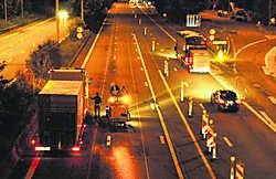 De wegenwerken op de E40 tussen Leuven en Brussel zijn zondag om 6 uur van start gegaan. tab
