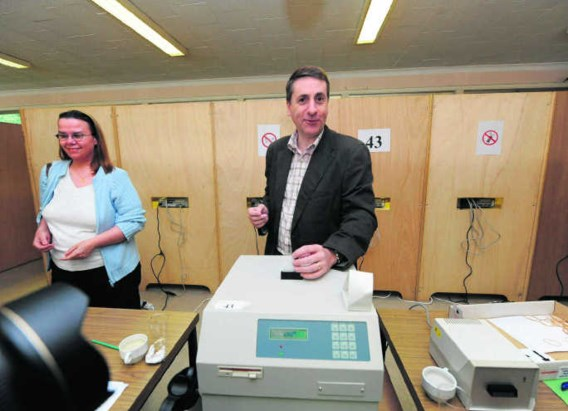 De francofone Olivier Maingain (FDF) was opnieuw de populairste politicus in het kiesdistrict Brussel-Halle-Vilvoorde.John Thys/belga