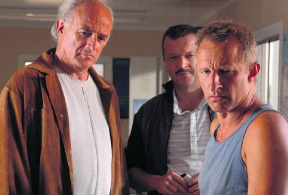 Uit de tv-serie 'Aspe': Herbert Flack als Pieter Van In, Lucas Van den Eynde als Guido Versavel, Warre Borgmans als Peter Vervoort. vmm