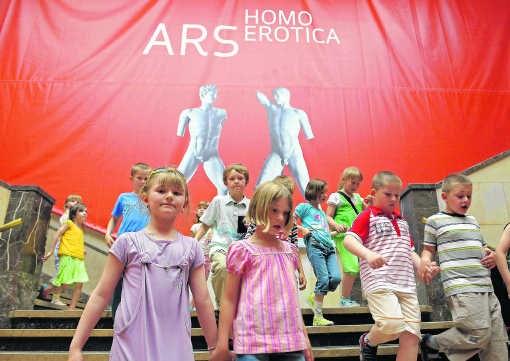 Ongezien in Polen: de minister van Cultuur legde het protest tegen Ars Homo Erotica naast zich neer.<br>Janek Skarzynski/ap