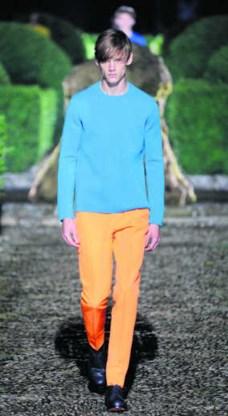 Ook Raf Simons werkte voor Jil Sander met felle kleuren. pi