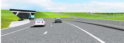De aanleg van de A11 zal minstens 344 miljoen euro kosten. tds