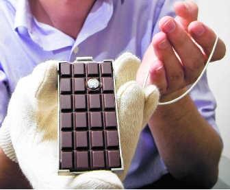 Een diamant, gevat in chocolade. was