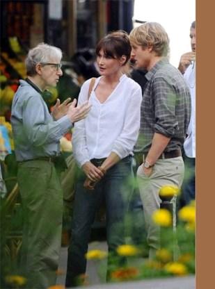 In beeld: Carla Bruni acteert in film Woody Allen