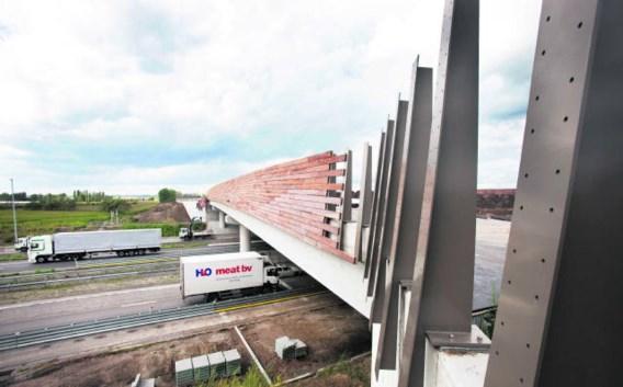 Het ecoduct over de E19 en de hogesnelheidslijn in Loenhout helpt bij het 'ontsnipperen' van de omliggende natuurgebieden. Wim Kempenaers