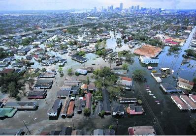 De overstroming van New Orleans was een 'man made disaster'. pn