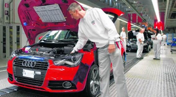De Audi A1 op de montageband in Vorst.bloomberg
