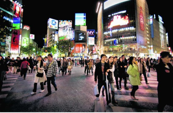 De wijk Shibuja, de locatie van 'After dark' en een moordscène in '1q84'. Taco van der Eb/hollandse hoogte