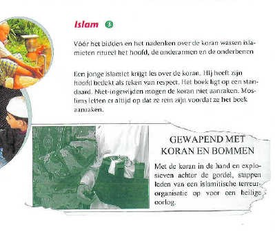Een fragment uit een Vlaams schoolboek godsdienst. rr