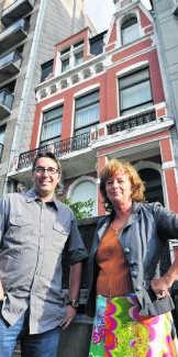 'Dit prachtige gebouw mag niet verloren gaan', vinden Guy Servaes en Rita Dambre.efo