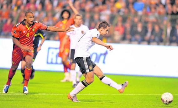 Met zijn 53ste interland-doelpunt bezorgde Miroslav Klose de Mannschaft de overwinning.belga