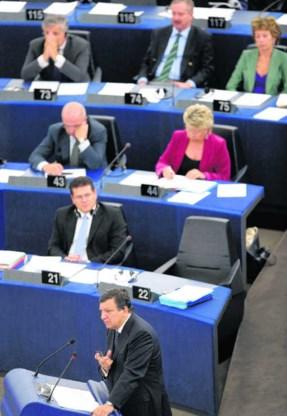 In zijn eerste State of the Union kon Commissie-voorzitter Jose Manuel Barroso niet begeesteren.Christophe Karaba/epa