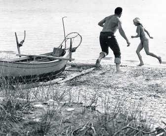 Wielerkampioen Rik Van Steenbergen als stoeiende Griekse visser. rr