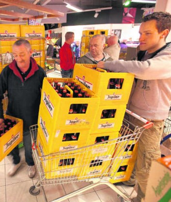 Jupiler is in België een sterk merk.Guido Benschop/Hollandse Hoogte