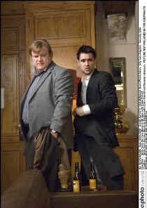 Brendan Gleeson en Colin Farrell in een scène uit 'In Bruges'. pn