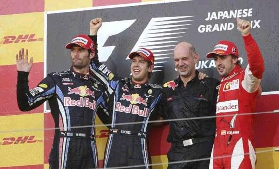 Sebastian Vettel wint GP van Japan voor Webber en Alonso