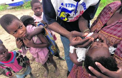Vaccinatie van kinderen in Kamina, Congo. Saurabh Das/ap